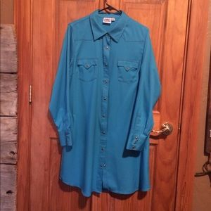 Cowgirl Justice Shirt Dress